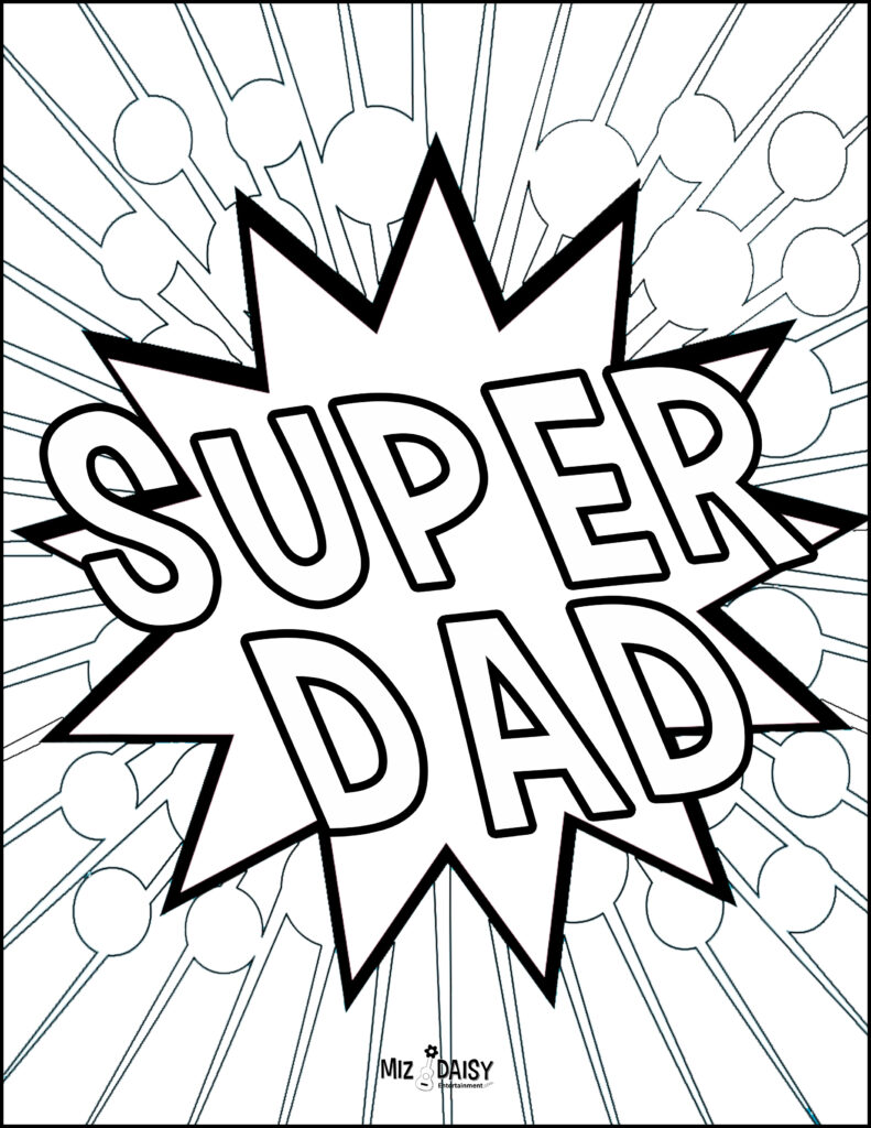 Father's Day Coloring Pages and Activities